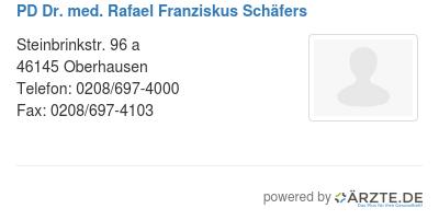 Pd dr med rafael franziskus schaefers