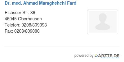 Dr med ahmad maraghehchi fard