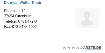 Dr med walter knab