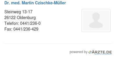 Dr med martin czischke mueller