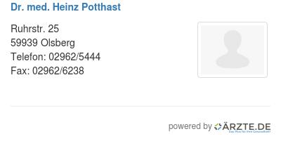 Potthast Olsberg