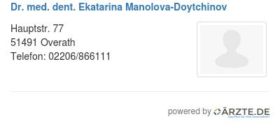 Dr med dent ekatarina manolova doytchinov