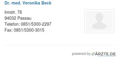 Dr med veronika beck 580170