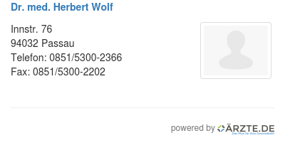Dr med herbert wolf 580080