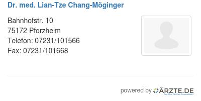 Dr med lian tze chang moeginger