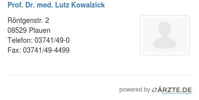 Prof dr med lutz kowalzick