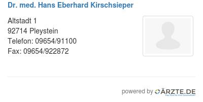 Dr med hans eberhard kirschsieper