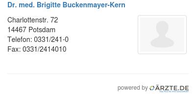 Dr med brigitte buckenmayer kern