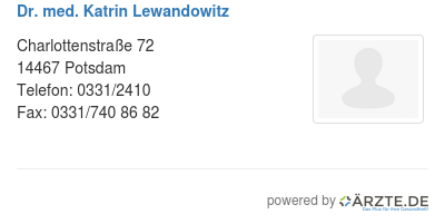 Dr med katrin lewandowitz