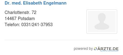 Dr med elisabeth engelmann 579625