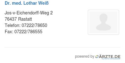 Dr med lothar weiss 425668