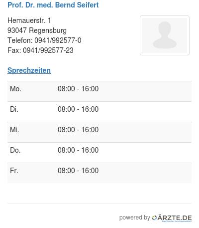 Prof dr med bernd seifert