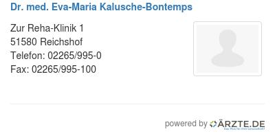 Dr med eva maria kalusche bontemps 425306