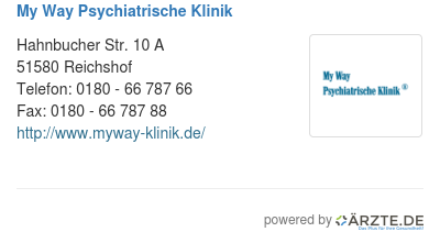 My way psychiatrische klinik