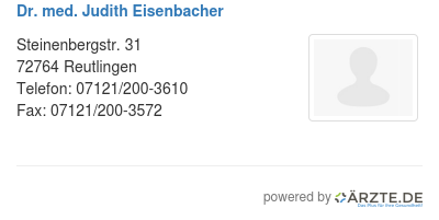 Dr med judith eisenbacher