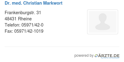 Dr med christian markwort