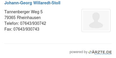 Johann georg willaredt stoll