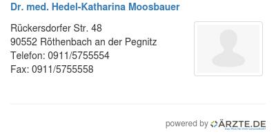 Dr med hedel katharina moosbauer