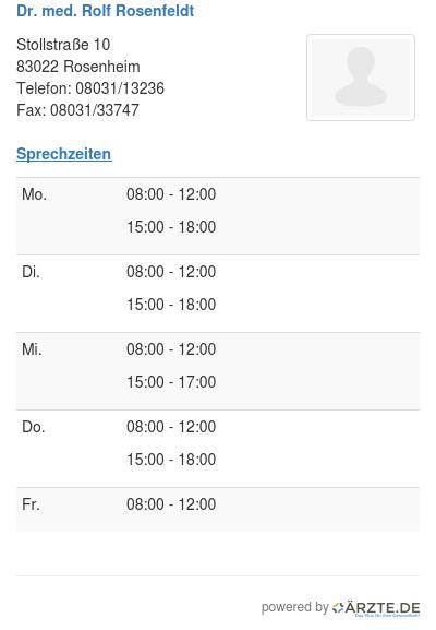 Dr med rolf rosenfeldt