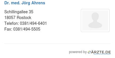 Dr med joerg ahrens 580449