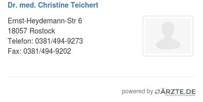 Dr med christine teichert 578854