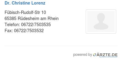 Dr christine lorenz 529903
