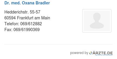 Dr med oxana bradler