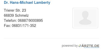 Dr hans michael lamberty