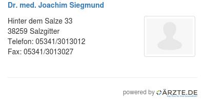 Dr med joachim siegmund 425665