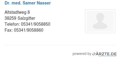 Dr med samer nasser 579194