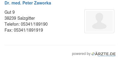 Dr med peter zaworka