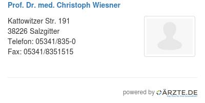 Prof dr med christoph wiesner 579657