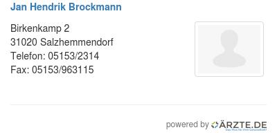 Jan hendrik brockmann