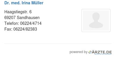 Dr Med Irina Müller In 69207 Sandhausen Fa Für Innere Medizin