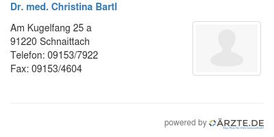 Dr med christina bartl 425279