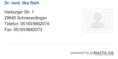 Dr med ilka rath 580087