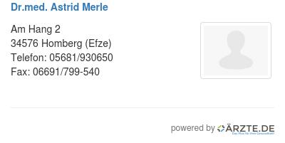 Dr med astrid merle