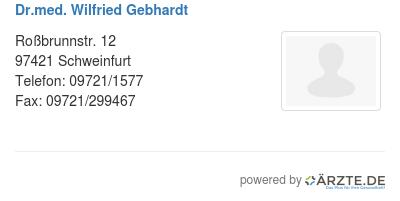 Dr med wilfried gebhardt