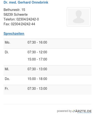 Dr med gerhard onnebrink
