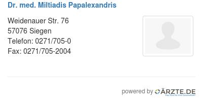 Dr med miltiadis papalexandris