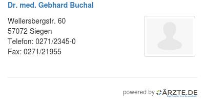 Dr med gebhard buchal 530159