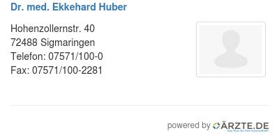 Dr med ekkehard huber 578839