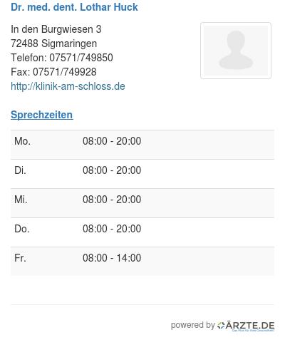 Dr med dent lothar huck 251487