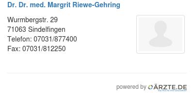 Dr dr med margrit riewe gehring