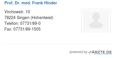 Prof dr med frank hinder 578809