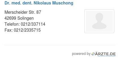 Dr med dent nikolaus muschong 424723