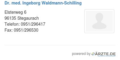 Dr med ingeborg waldmann schilling