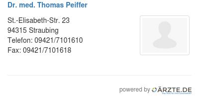Dr med thomas peiffer