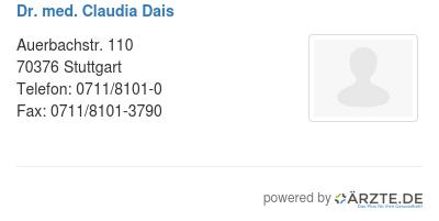 Dr med claudia dais
