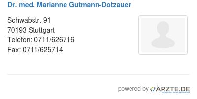 Dr med marianne gutmann dotzauer